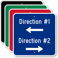 Add Your Direction With Arrows Custom Parking Sign