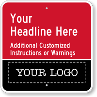 Add Your Instructions And Logo Here Custom Parking Sign