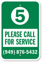Add Your Spot And Phone Number Custom Curbside Pickup Sign