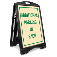 Additional Parking In Back Reserved Sidewalk Sign Kit
