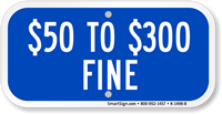 $50 to $300 Fine Aluminum ADA Handicapped Sign