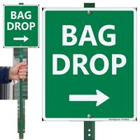 Bag Drop Right Arrow Lawnboss Sign Kit
