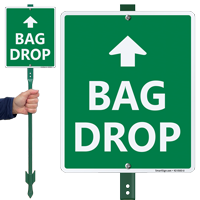 Bag Drop Up Arrow Lawnboss Sign Kit