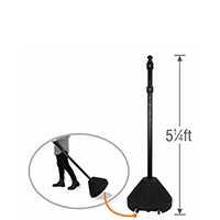 Standard Black Base Roll 'n' Pole Sign Holder