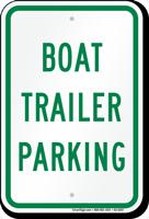 Boat Trailer Parking Sign