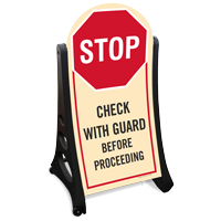 Check Before Proceeding A-Frame Sign Kit