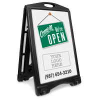 Come In We Are Open Add Your Logo Custom Sidewalk Sign