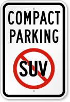 Compact Parking With No Suv Symbol Sign