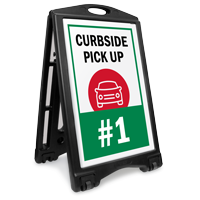 Curbside Pick Up BigBoss Portable Custom Sidewalk Sign