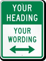 Customizable Bidirectional Parking Message Sign