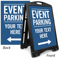 Custom Event Parking Sign Insert, Directional Arrows