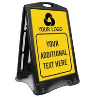 Custom Logo And Text Sidewalk Sign