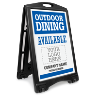 Custom Outdoor Dining Available: Upload Your Logo