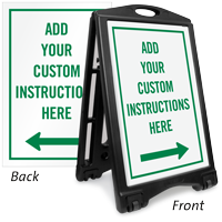 Custom Parking Instructions Sign Insert with Arrow