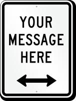 Customizable Parking Message Sign, Bidirectional Arrow