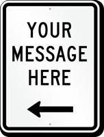 Customizable Parking Message Sign, Left Arrow