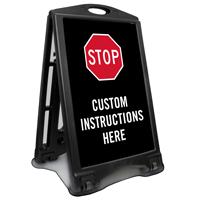 Custom Stop Valet Parking Sidewalk Sign