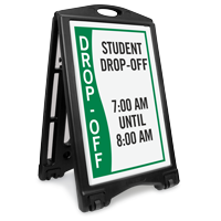 Custom Student Drop-Off Timings Sidewalk Sign Insert