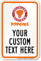Popeyes Logo Png popeyes louisiana kitchen parking signs