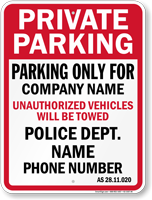 Custom Alaska Tow-Away Sign