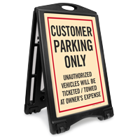 Customer Parking Only Sidewalk Sign Kit
