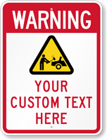 Customizable Private Parking Warning Sign with Graphic