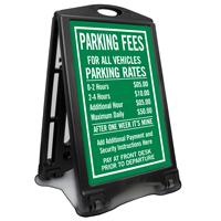 Customized Parking Fees Sidewalk Sign