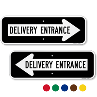Delivery Entrance Right Direction Arrow Sign