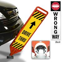 Dive Thru And Wrong Way Flexpost Paddle Sign Kit