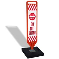 Do Not Enter Flexpost Portable Paddle Sign Kit