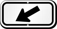 Downwards Pointing Black Arrow Supplemental Parking Sign