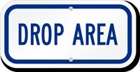 Drop Area Golf Recreation Sign