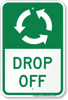 Drop Off, Anti-Clockwise Arrows Sign