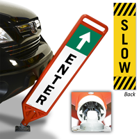 Enter and Slow Flexpost Paddle Sign Kit