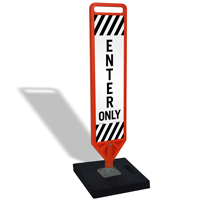 Enter Only Flexpost Portable Paddle Sign Kit