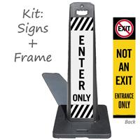 Enter Only Lotboss Portable Sign Kit