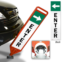 Enter With Arrow Flexpost Paddle Sign Kit