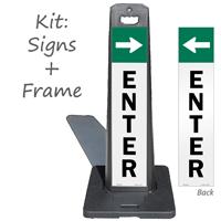 Enter With Arrow Lotboss Portable Sign Kit