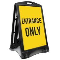 Entrance Only Portable Sidewalk Sign