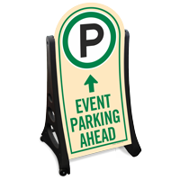 Event Parking Ahead Sidewalk Sign Kit
