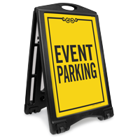 Event Parking Sidewalk Sign