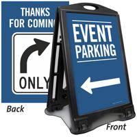 Event Parking To Left Sidewalk Sign