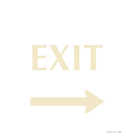 Exit with Left Arrow Sign