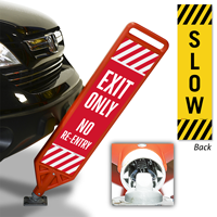 Exit Only No Re-Entry Flexpost Paddle Sign Kit