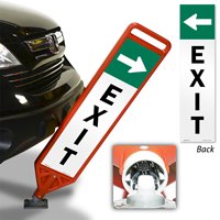 Exit With Arrow Flexpost Paddle Sign Kit