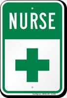 First Aid Symbol Nurse Parking Sign