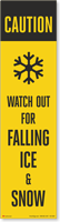 FlexPost Caution Falling Ice Decal