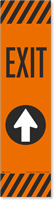 Exit Straight Arrow Decal FlexPost Paddle