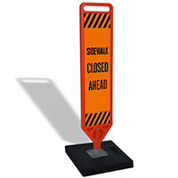 Sidewalk Closed Ahead Portable Flex Paddle