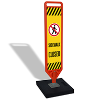 FlexPost Sidewalk Closed Paddle Portable